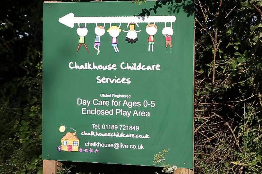Welcome to Chalkhouse Childcare sign